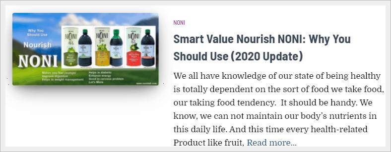 smart value noni juice