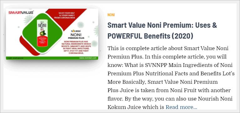 smart value noni premium