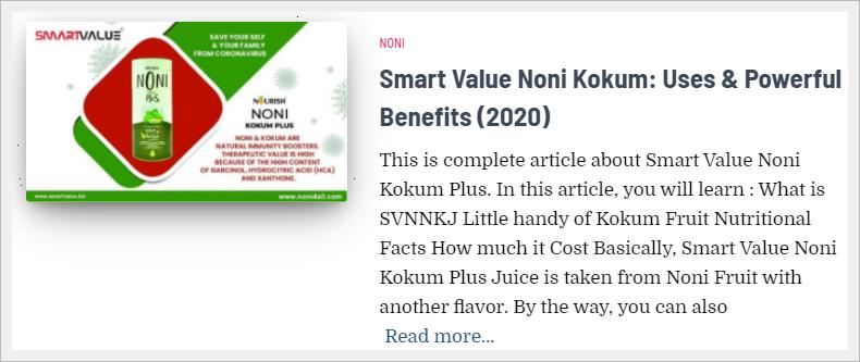 smart value noni kokum