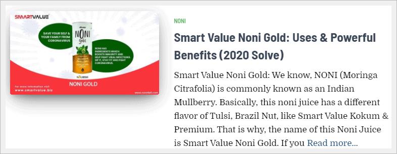 smart value noni gold