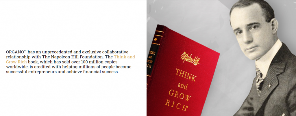 Think and Grow rich book in ORGANO