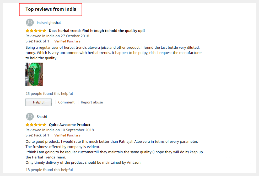 herbal trends aloe vera juice top reviews in amazon