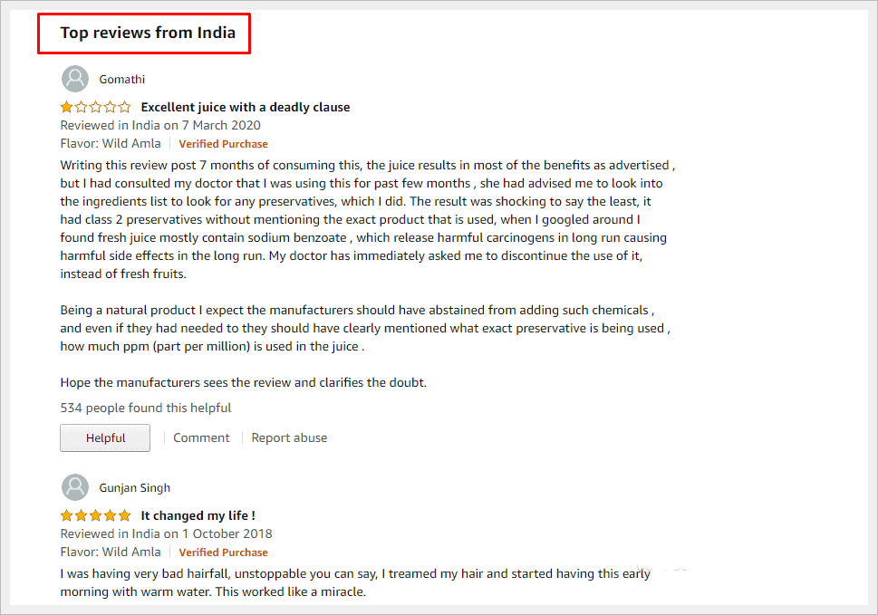kapiva thar top review in amazon