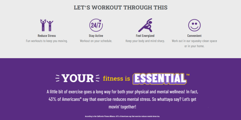 Workout through Planet Fitness