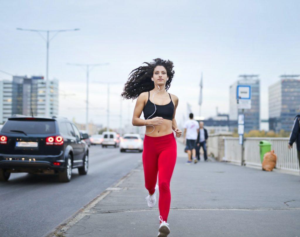 running on street