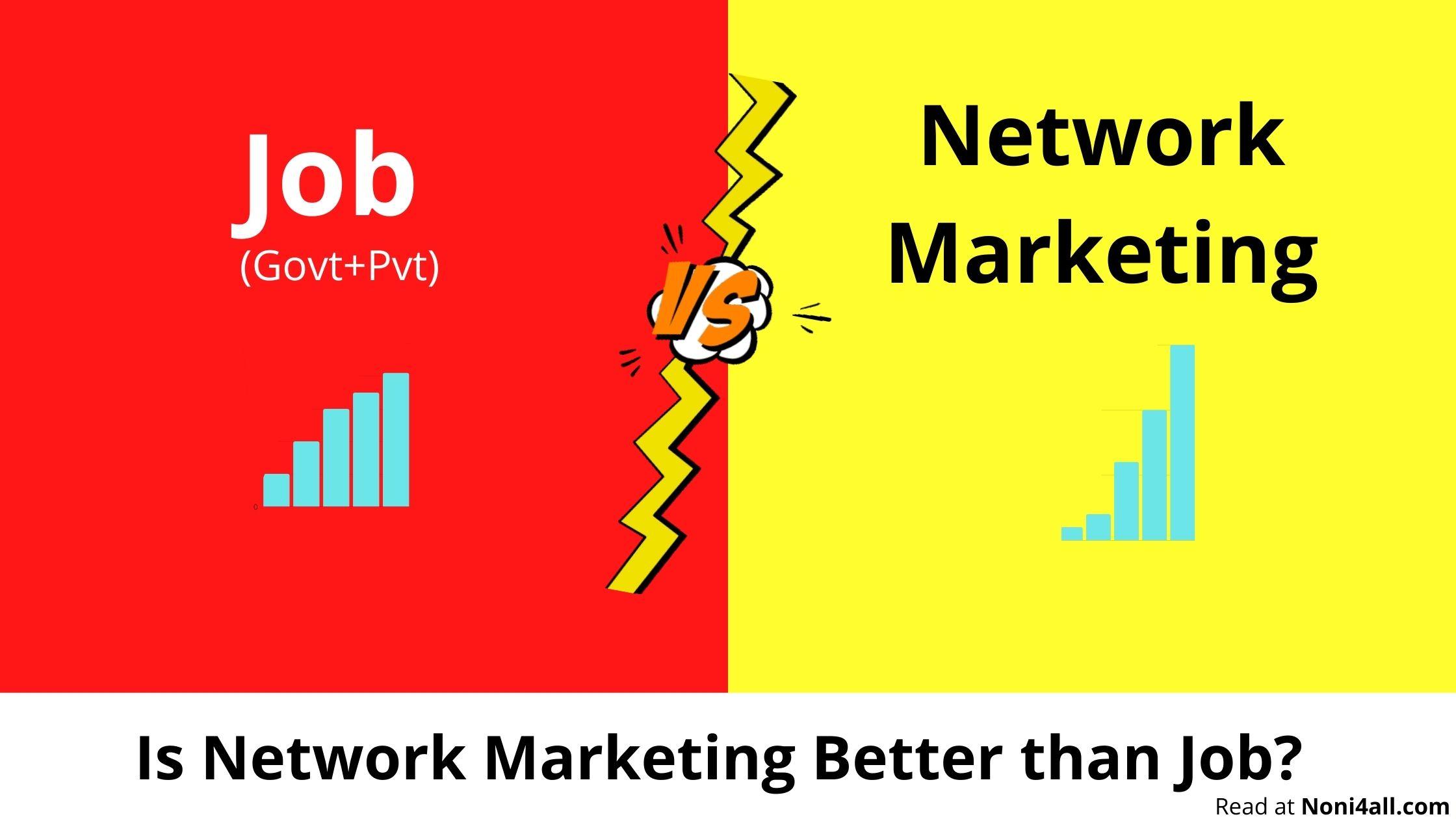 Job vs Network Marketing