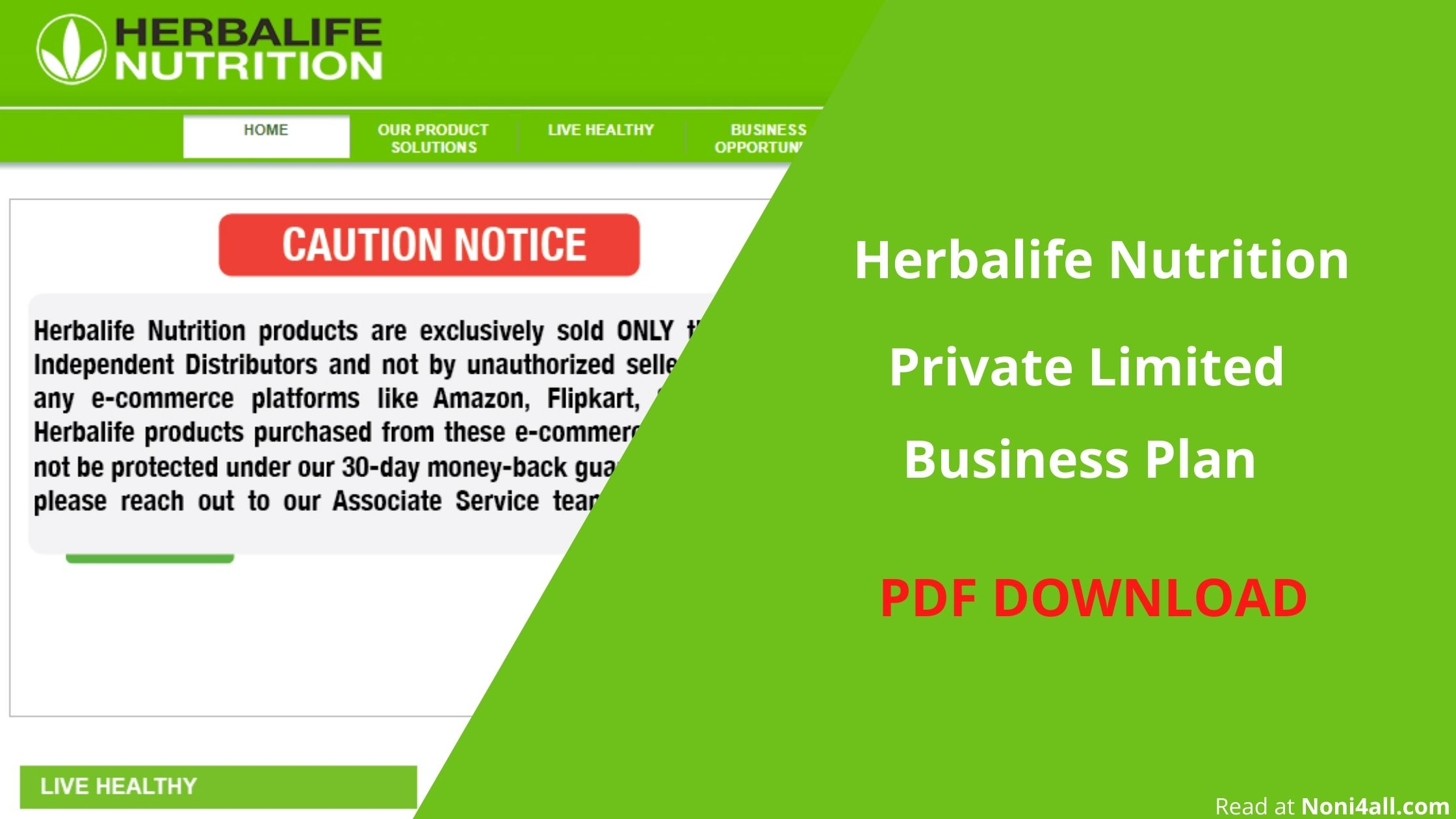 Herbalife Business Plan PDF