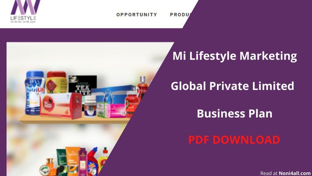 mi lifestyle marketing plan PDF DOWNLOAD