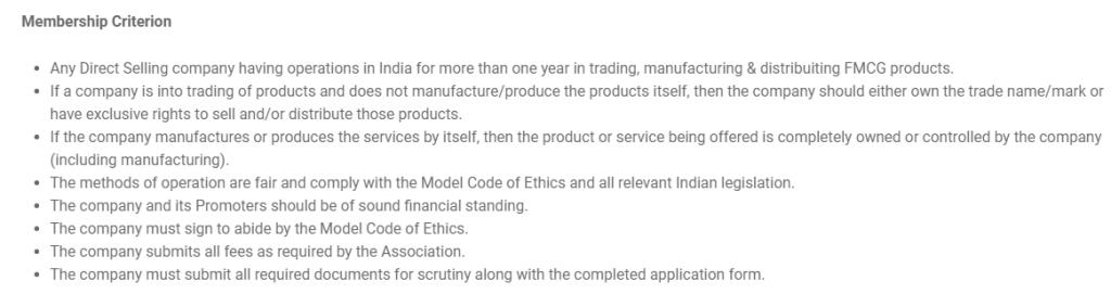 Criteria for IDSA Membership
