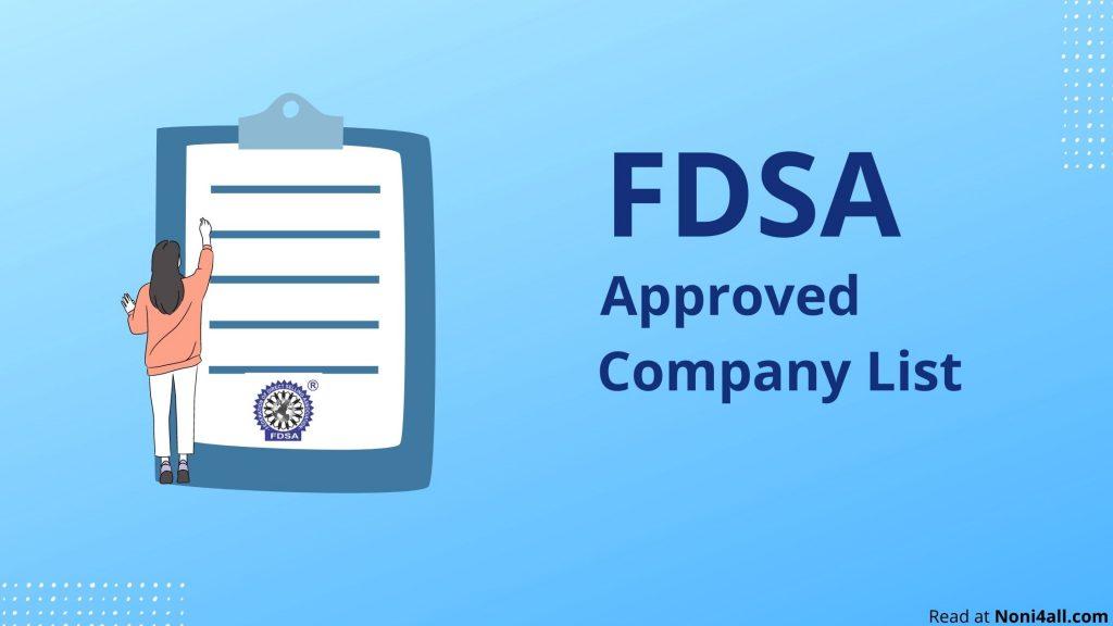 FDSA Company List