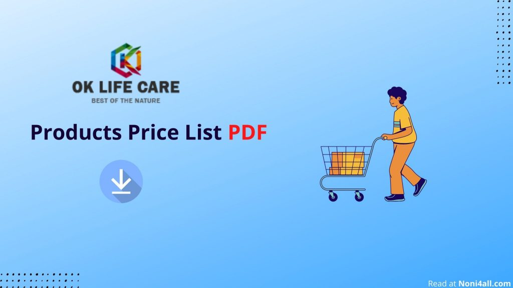 Ok Life Care Products Price List