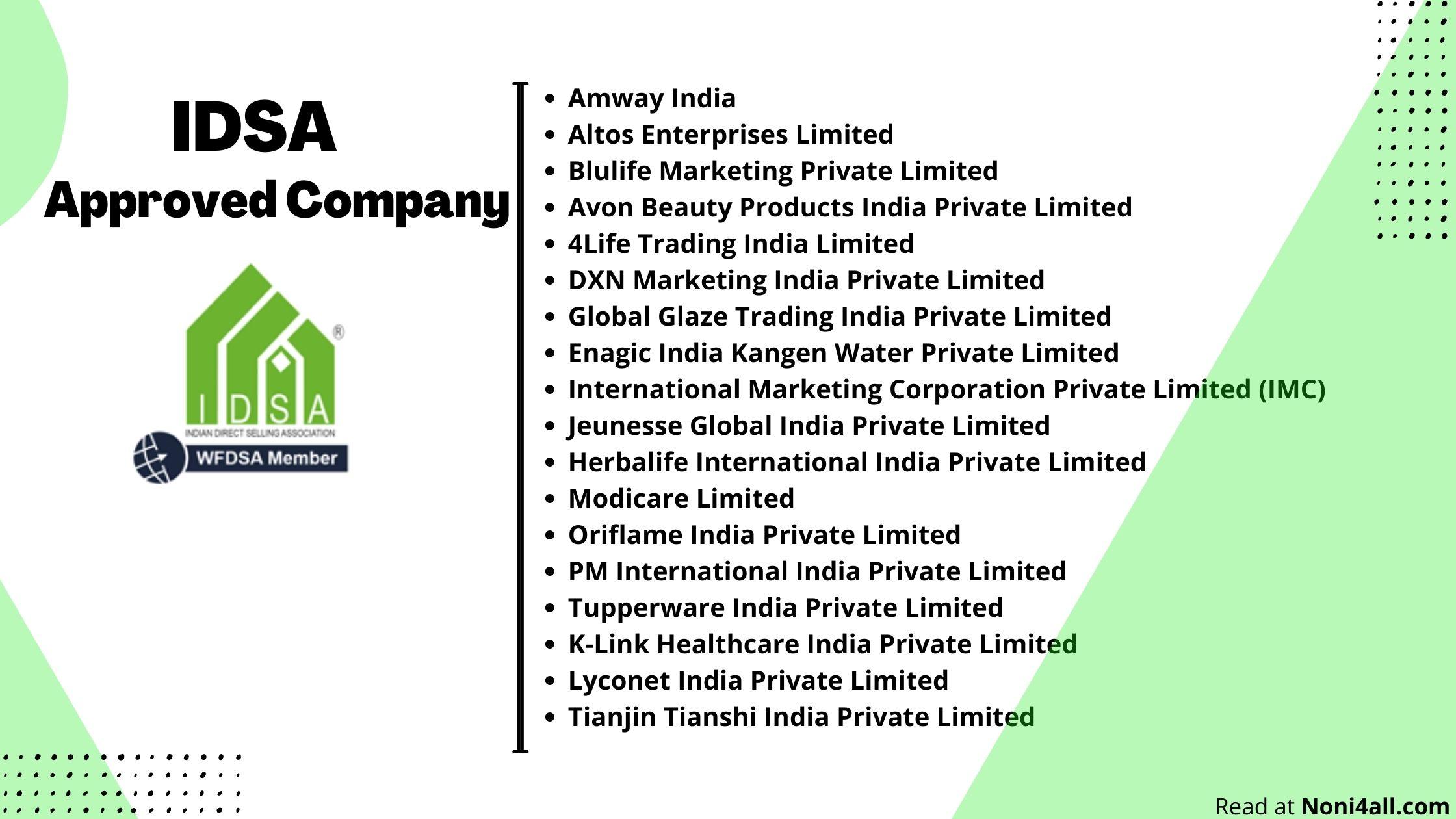 idsa company list