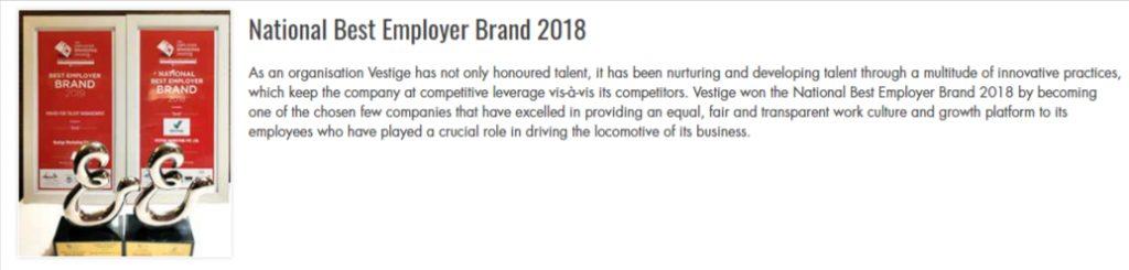 National Best Employer Brand 2018