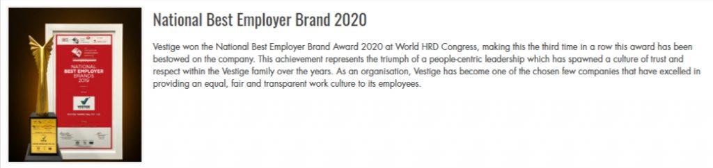 National Best Employer Brand 2020