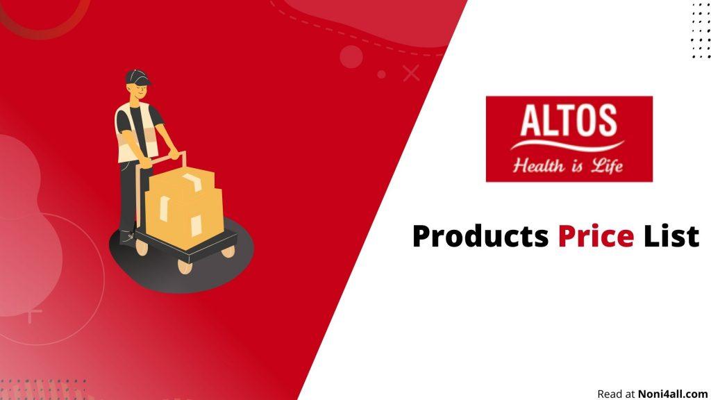 Altos Product Price List