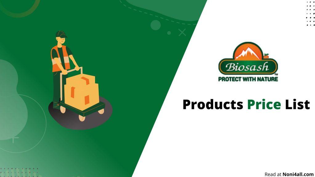 Biosash Products Price list