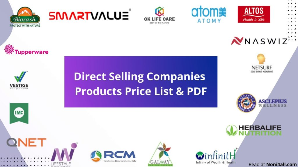 Direct Selling Company Products Price List