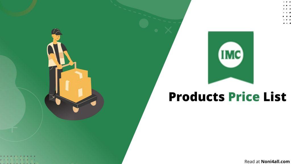 IMC Product Price list 2021 PDF