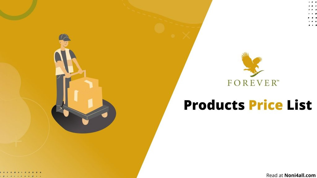 Forever Living Products Price list