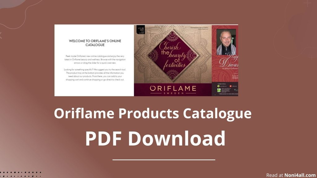 Oriflame Products Catalogue October 2021 PDF Download